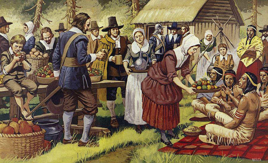 The First Thanksgiving Painting By Mike White