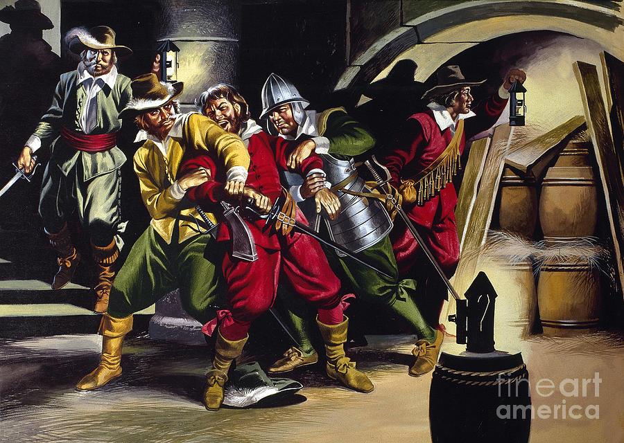 The Gunpowder Plot Painting By Ron Embleton
