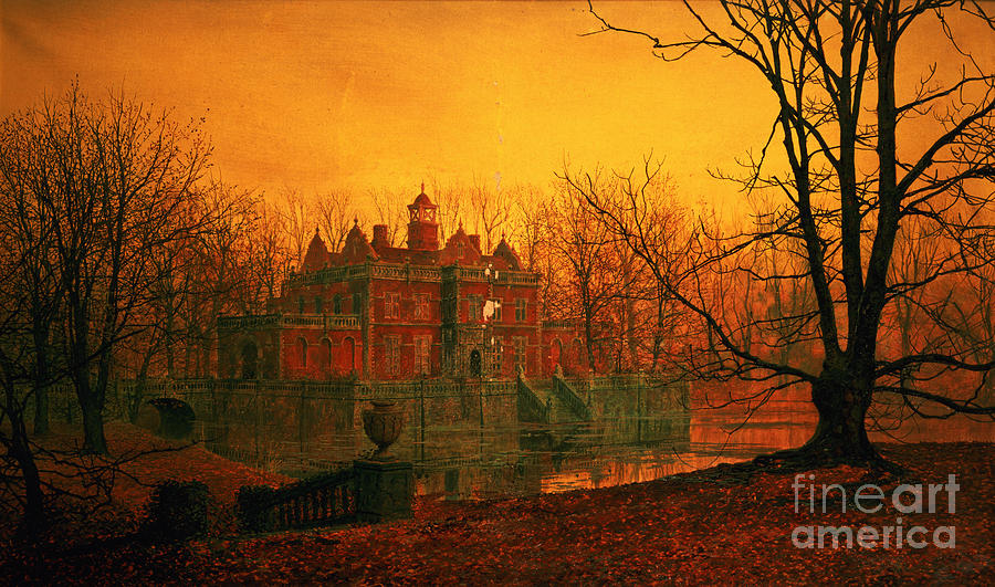Haunted Mansion Iphone Wallpaper The Haunted House Painting By John Atkinson Grimshaw
