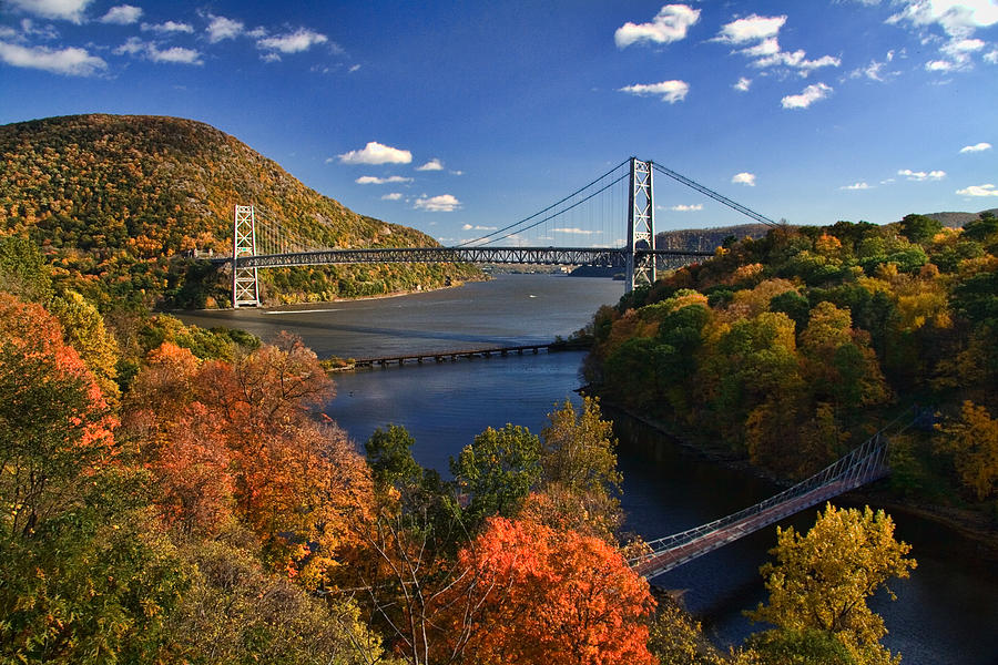 Upstate New York Fall Hd Wallpaper The Hudson River Valley In Autumn Photograph By June Marie