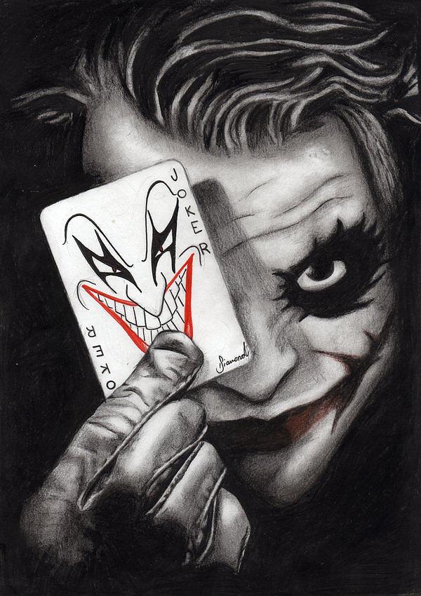 Black And White Diamond Wallpaper The Joker Drawing By Sarah Diamond