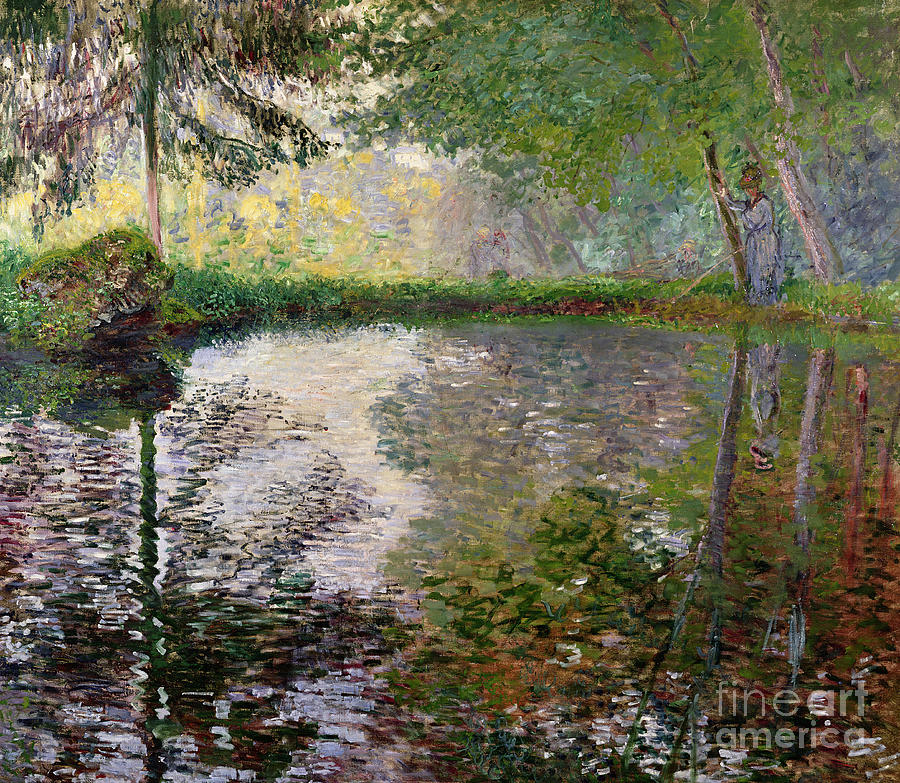 The Lake At Montgeron Painting by Claude Monet
