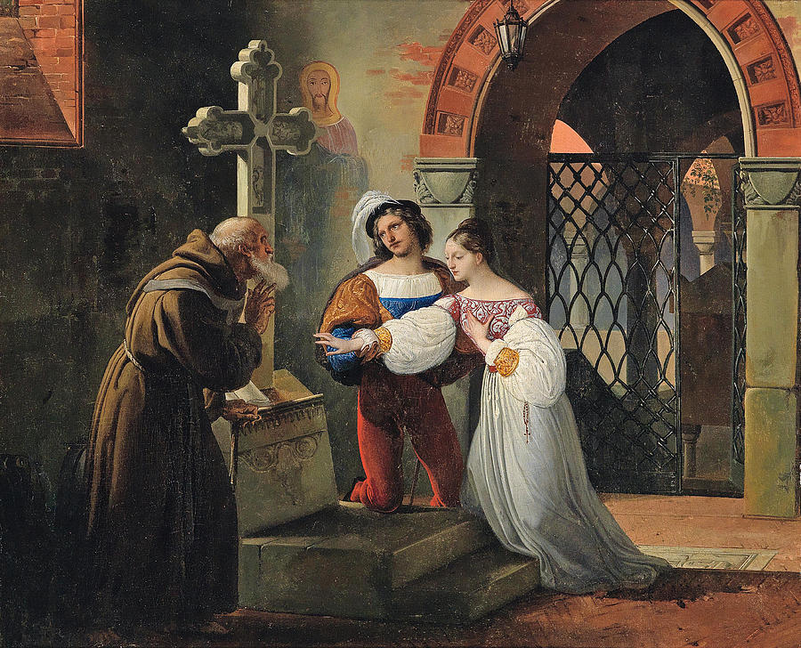 The Marriage Of Romeo And Juliet Painting By Francesco Hayez