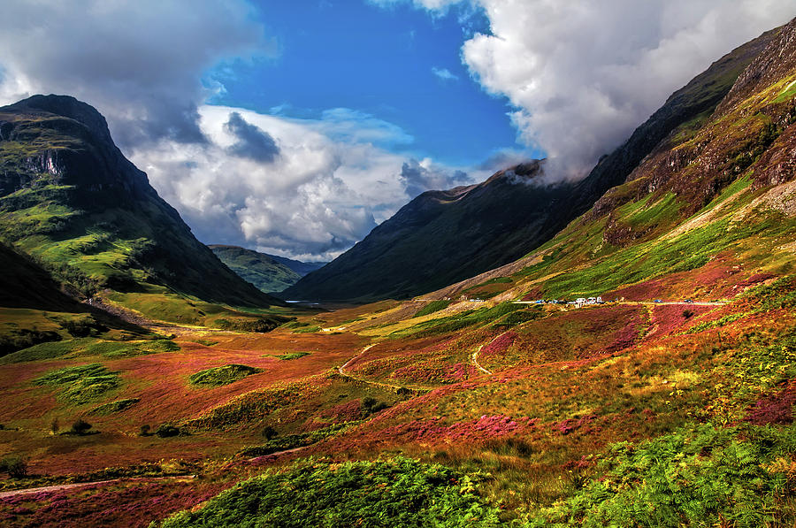 Fall Scenery Iphone Wallpaper The Valley Of Three Sisters Glencoe Scotland Photograph