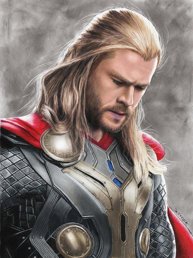 App Wallpaper Iphone X Thor Drawing Drawing By Jasmina Susak