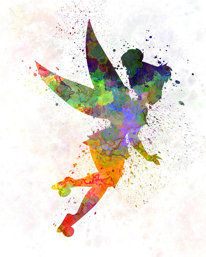 Tinkerbell Wallpaper For Iphone 6 Tinkerbell In Watercolor Painting By Pablo Romero