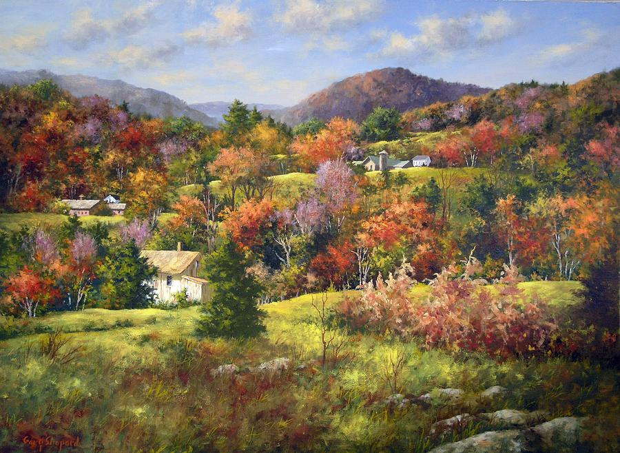 Vermont Fall Wallpaper Vermont Hills Painting By Gary Shepard