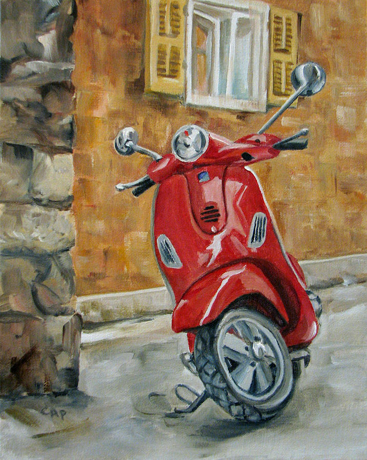 Travel System Toddler Vespa 4 Painting By Cheryl Pass
