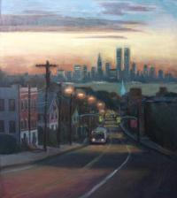 Victory Boulevard At Dawn Painting by Sarah Yuster