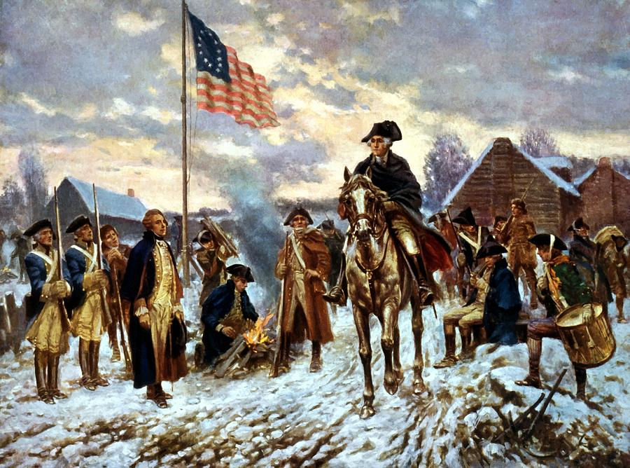 Washington At Valley Forge Painting By War Is Hell Store