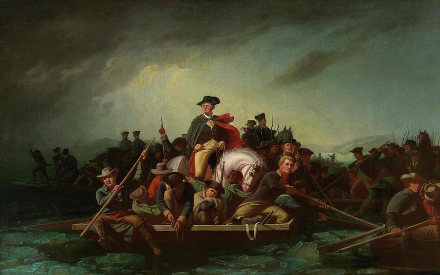 Washington Crossing The Delaware Painting by George Caleb Bingham