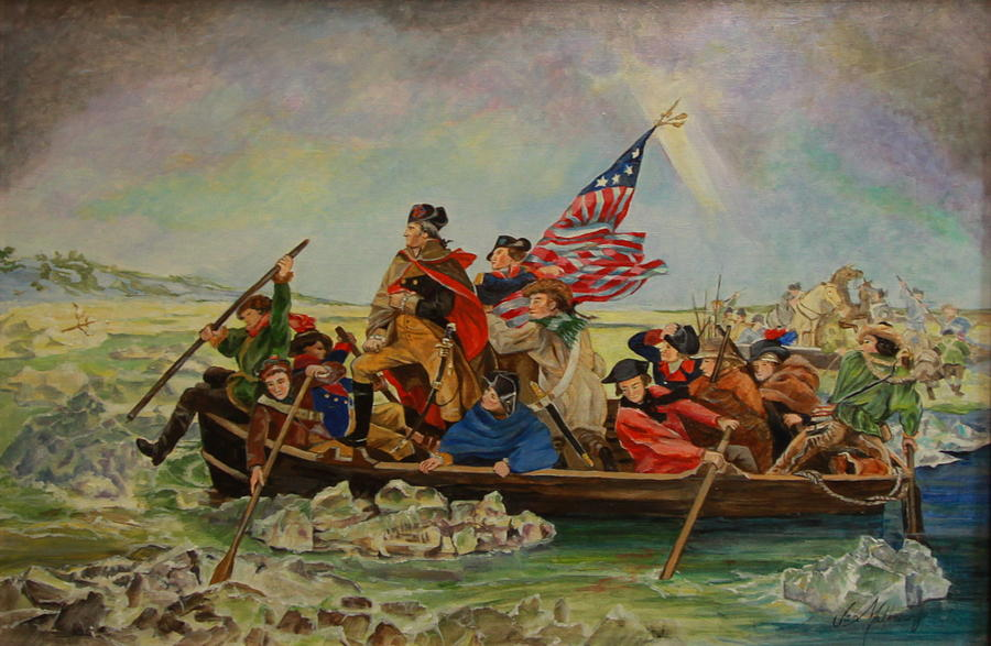 Washington Crossing The Delaware Painting by Jan Mecklenburg
