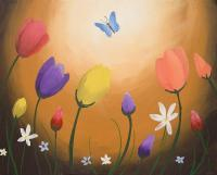 watercolours butterfly original Flower floral Painting ...