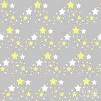 Yellow And White Stars On Grey Gray Digital Art by Laura ...