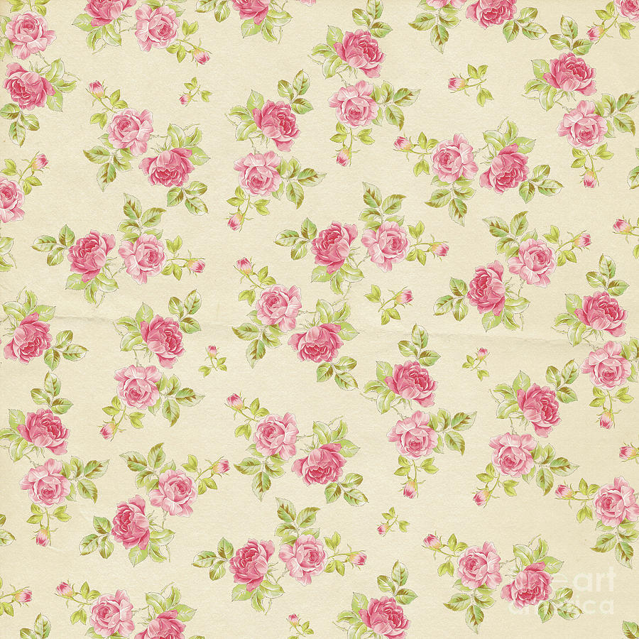 Shabby Chic Shabby Chic Roses Pattern By Heaven Farmhouse