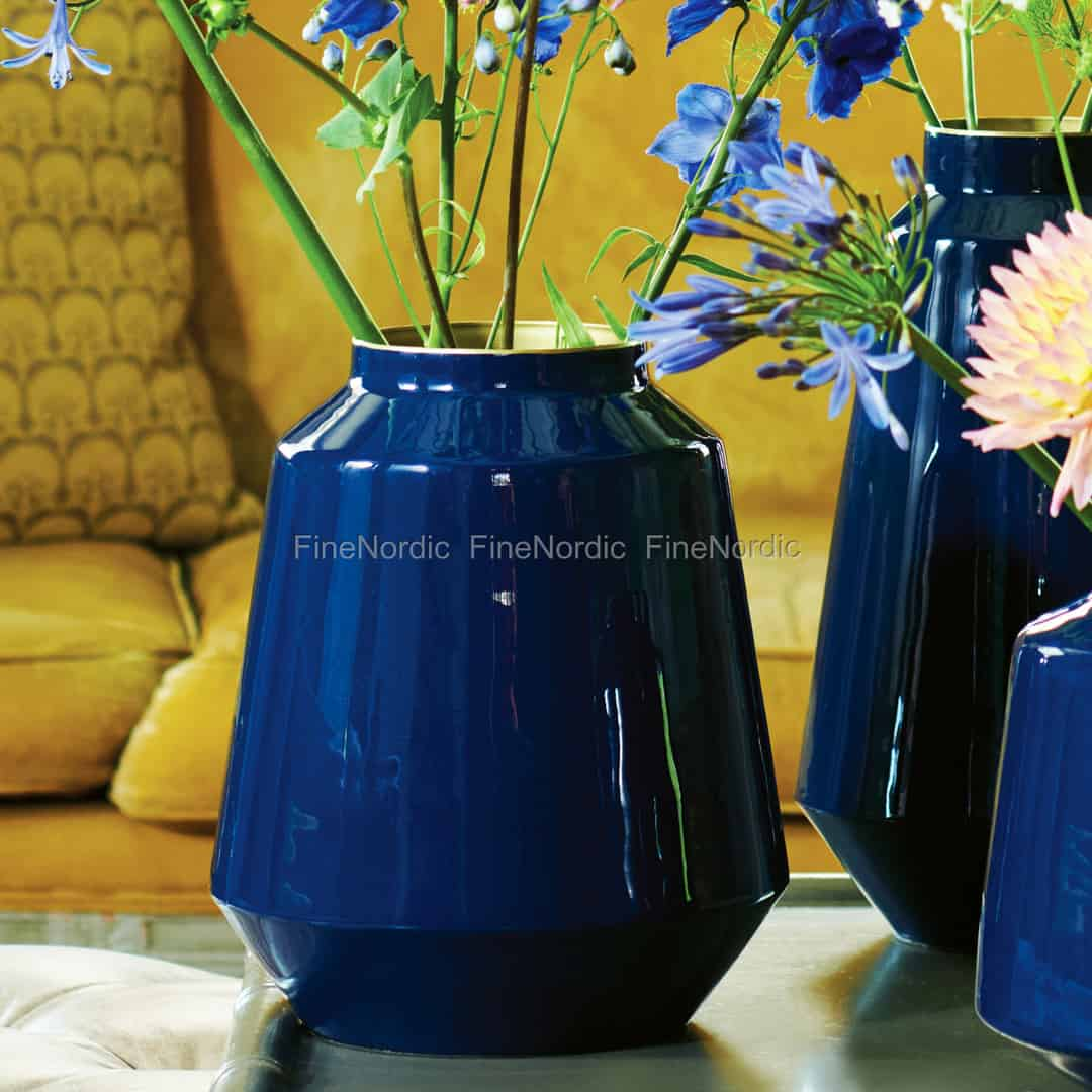 Pip Studio Vase Metall Blue 29 Cm