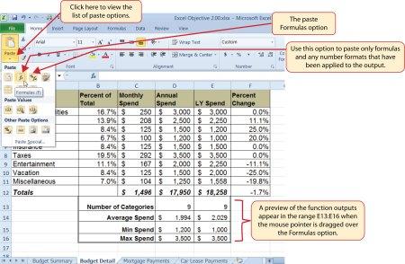 Using Fields In Excel
