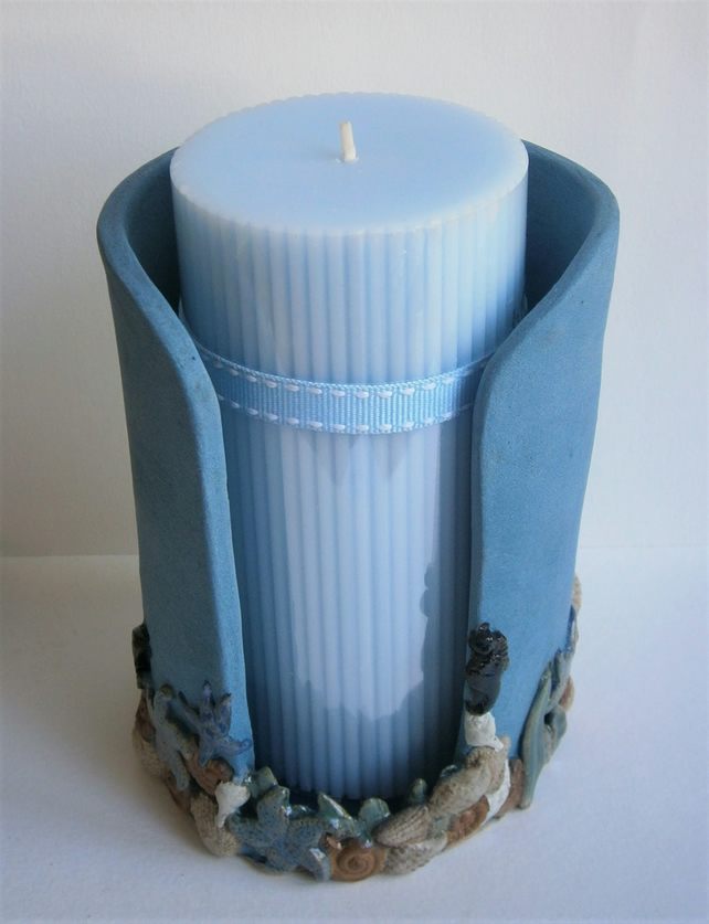 Ceramic Candle Holder Scented Candle Handmade Folksy