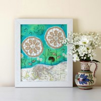 Rustic Style Painting, Shabby Chic Artwork, Mix... - Folksy