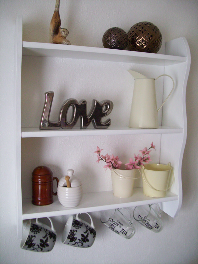 White Kitchenbathroombookcase Shelves With Cu Folksy