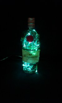 Upcycled Tanqueray London Dry Gin Bottle Lamp - Folksy