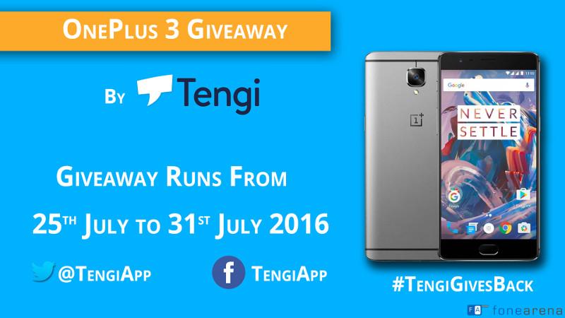 OnePlus 3 Giveaway Tengi