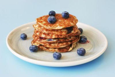 Almond Meal Pancakes with Blueberries Recipe on Food52