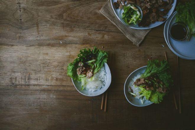 Roast Duck Lettuce Wrap
