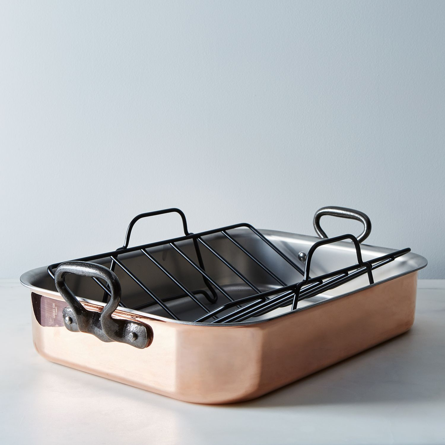 Big W Dish Rack Mauviel Mhéritage Copper Roasting Pan With Rack On Food52