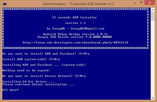 15 seconds adb installer windows