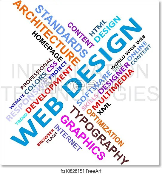 Free art print of Word cloud - web design A word cloud of web