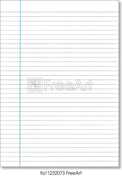 Free art print of Lined Paper Sheet of Lined Paper FreeArt