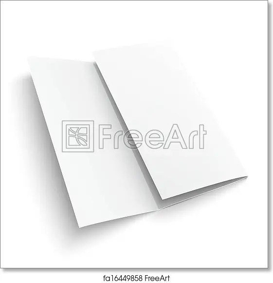 Free art print of Blank trifold paper brochure Blank trifold paper