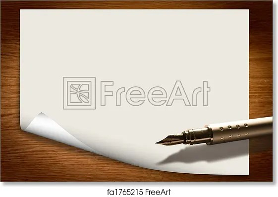 Free art print of Blank paper background with pen Paper background