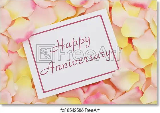 Free art print of Happy Anniversary card  Happy Anniversary card, A