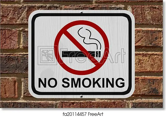 Free art print of No Smoking Sign No Smoking Sign, An red and white