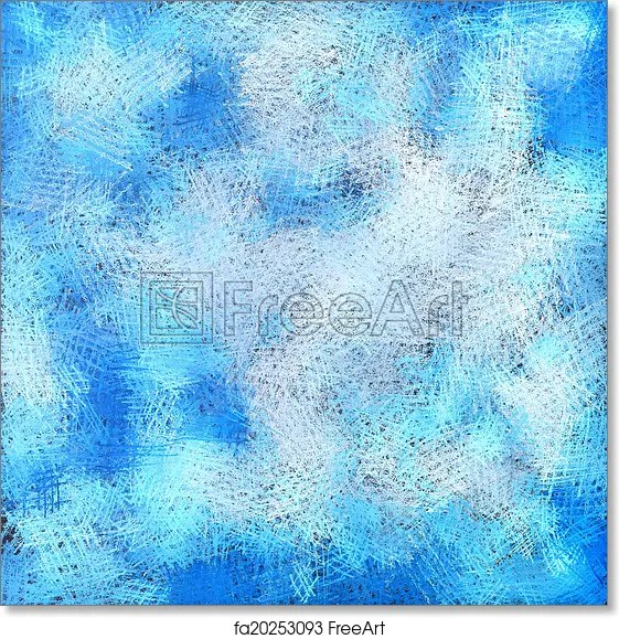 Free art print of Blue abstract artistic pastel background Blue
