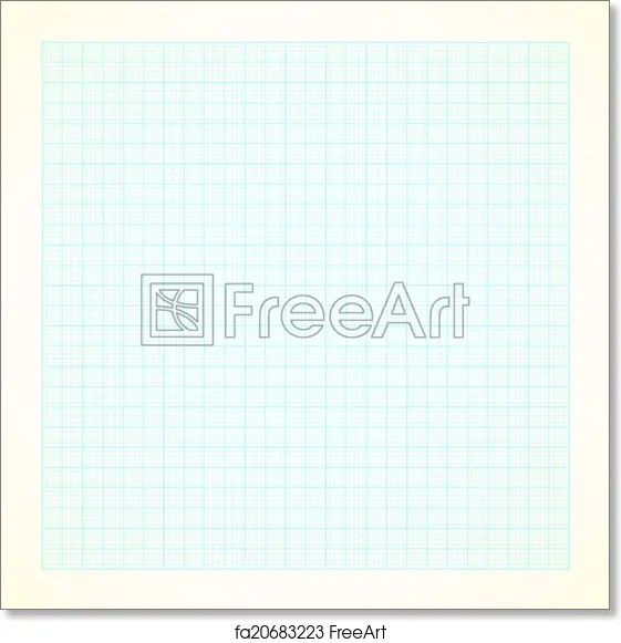 Free art print of Graph grid paper background Vector graph grid