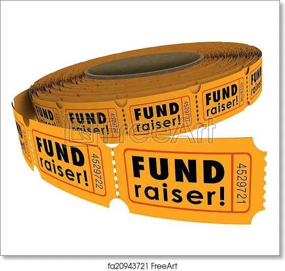 Free art print of Fundraiser 50 Fifty Raffle Ticket Roll Charity - raffle ticket
