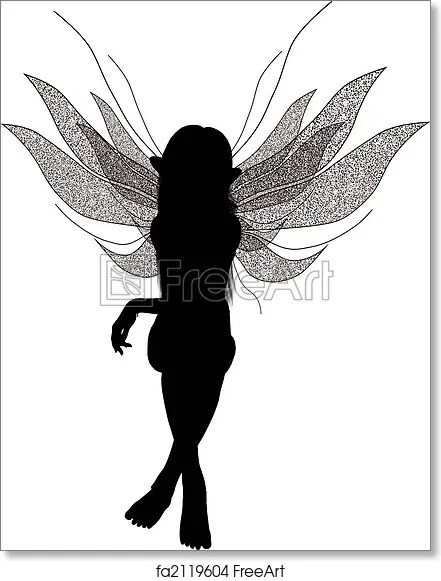 Printable Fairy Silhouette 6 best images of fairy cut out
