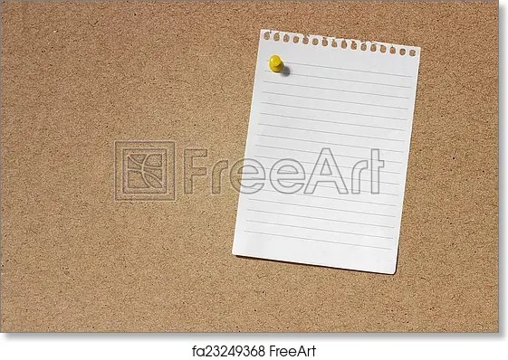 Free art print of Blank Note Paper Template Image of Cork board - note paper template