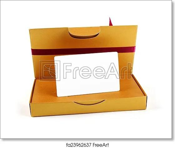 Free art print of Gift box with blank gift card inside FreeArt