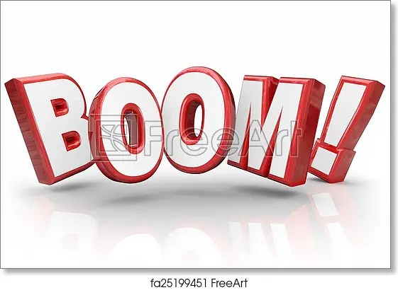 Free art print of Boom 3d Word Explosive Growth Increase Sales - sales word