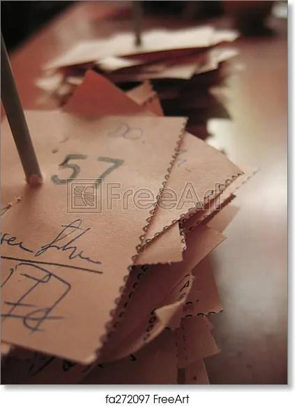 Free art print of Receipt Tailoring receipt FreeArt fa272097