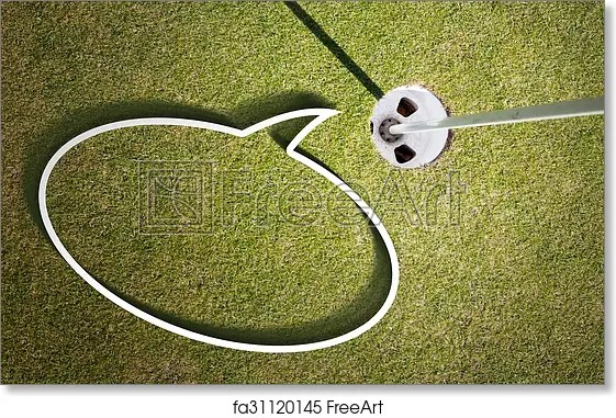 Free art print of Putting green Golf course with speech bubble