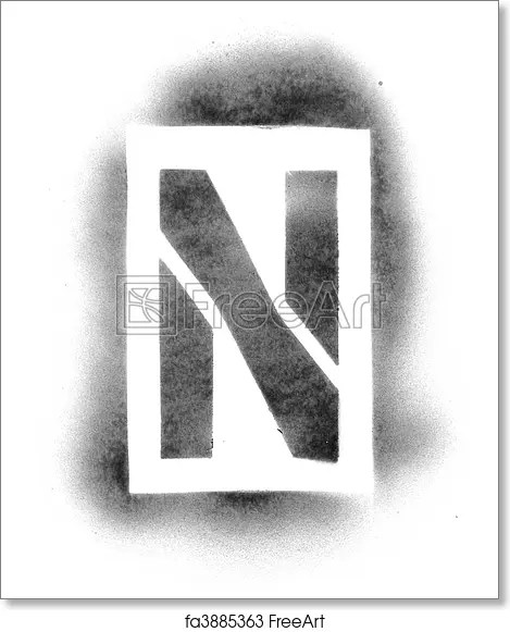 Free art print of Stencil letters in spray paint FreeArt fa3885363