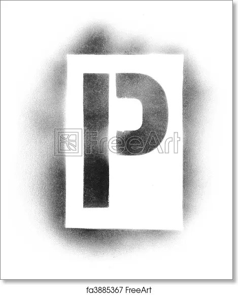 Free art print of Stencil letters in spray paint FreeArt fa3885367