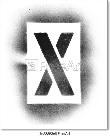 Free art print of Stencil letters in spray paint FreeArt fa3885368