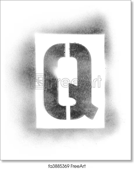 Free art print of Stencil letters in spray paint FreeArt fa3885369