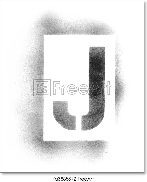 Free art print of Stencil letters in spray paint FreeArt fa3885372